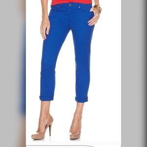 Calvin Klein Jeans   Blue Skinny Crop Pants (O20)